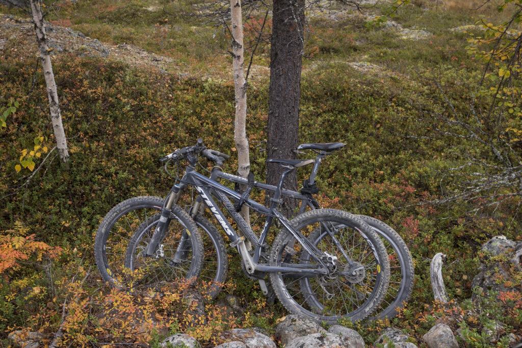 Fahrräder im Naturreservat Gimegoults