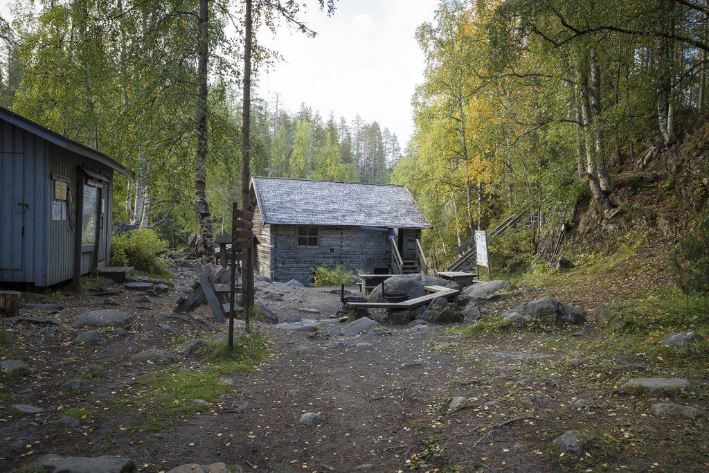 Die Mühle Myllykoski mit Grillmöglichkeit.