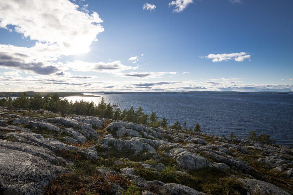 Ausblick auf das schwedische Naturreservat Bjüroklubb