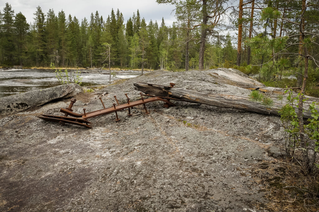 Überreste aus der Zeit der Flößerei