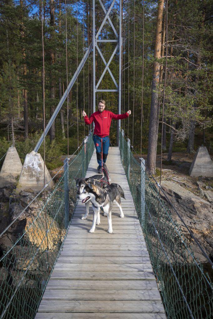 Hängebrücke Mardseleforsen