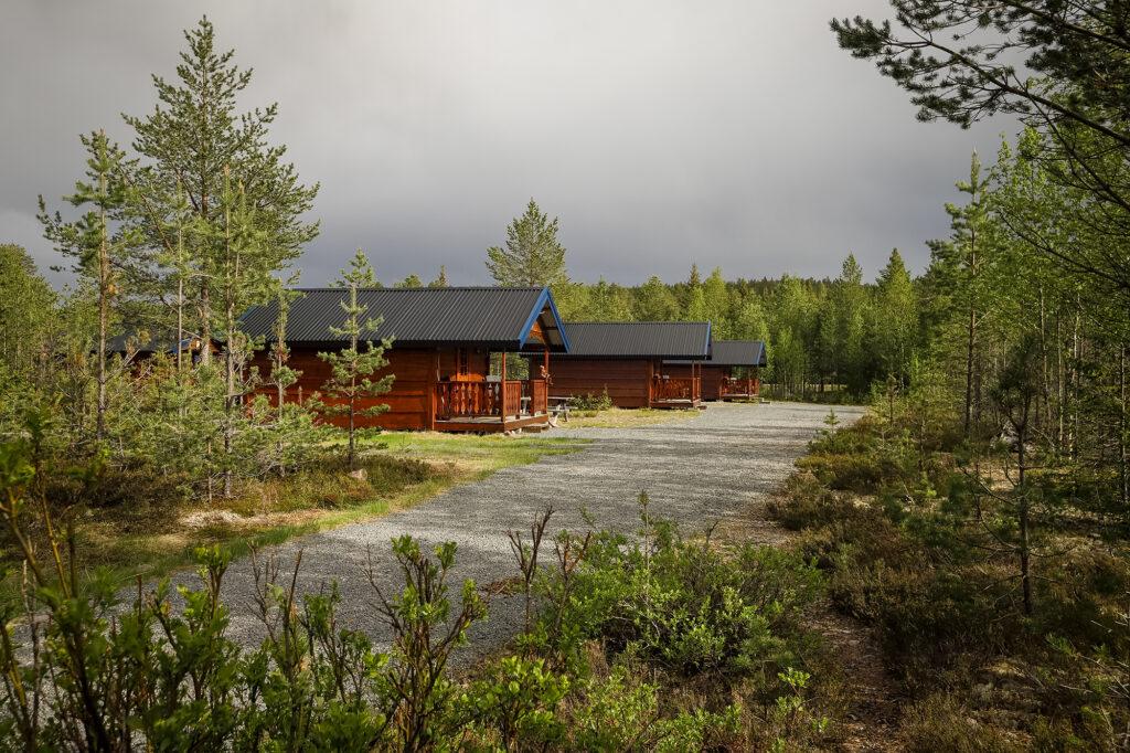 Campinghütten auf dem Campingplatz Sörälven Fiske Camp