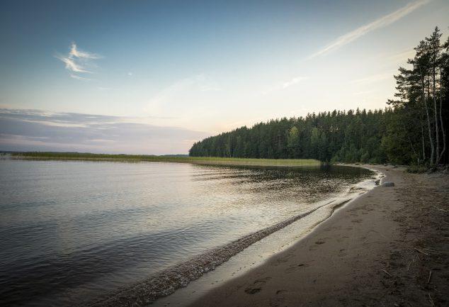 wohnmobil stellplatz am saimaa in finnland