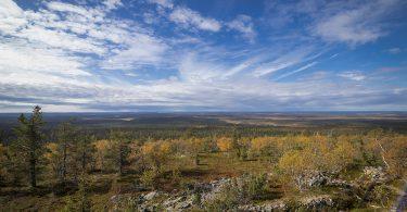 Panoramablick auf den Urho-Kekkonen Nationalpark