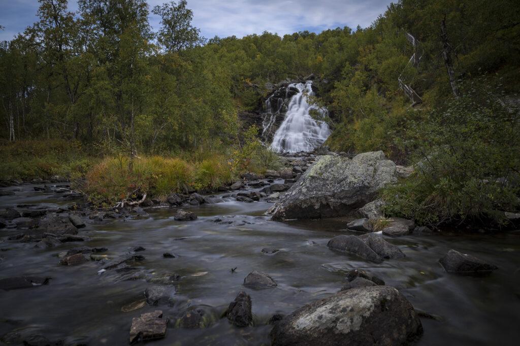 """Wasserfall """"Andersjöfallet"""""""