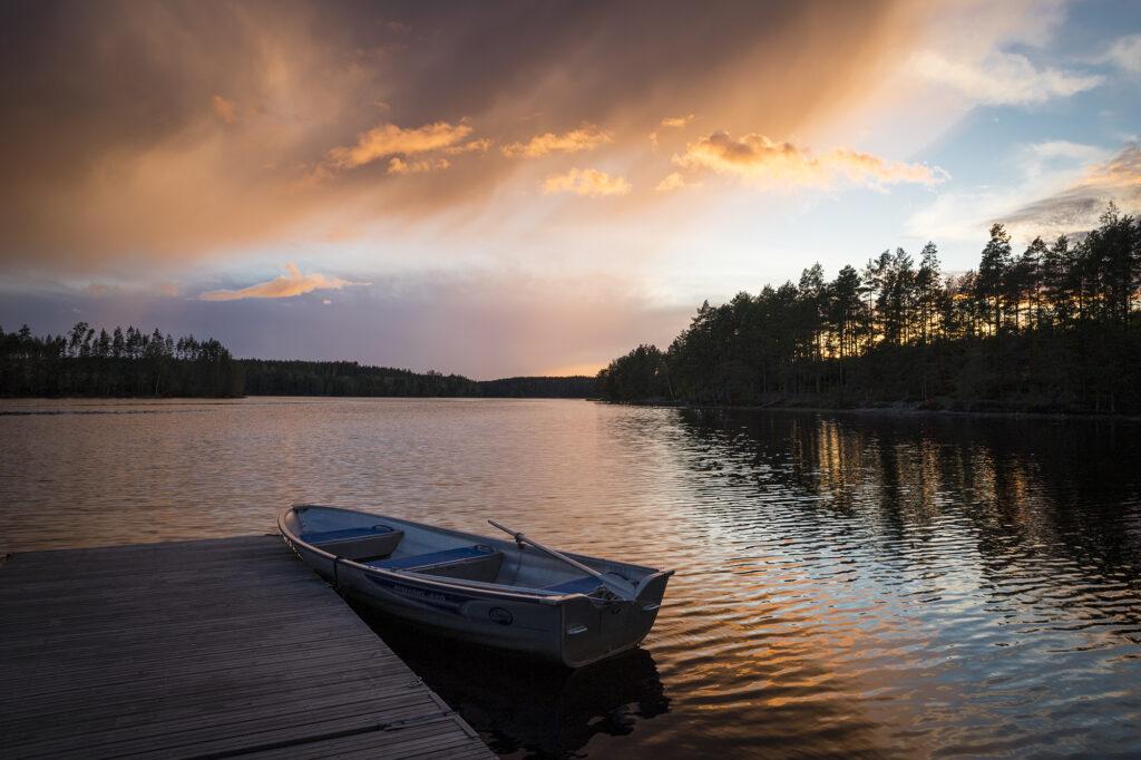 Abendstimmung am See Sävsjön