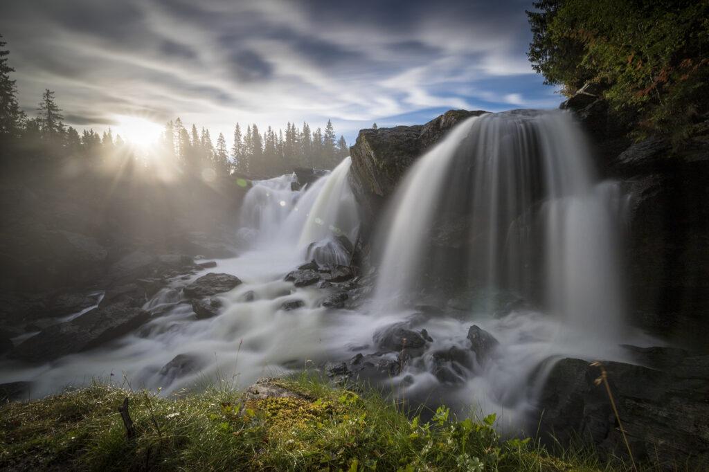 "Wasserfall ""Ristafallet"""